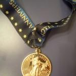 Portland Marathon Medal (Front w Ribbon) 40th Anniversary