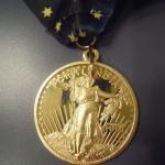 Portland Marathon Medal (Close-up Front) 40th Anniversary
