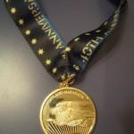 Portland Marathon Medal (Back w Ribbon) 40th Anniversary