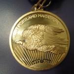 Portland Marathon Medal (Close-Up Back) 40th Anniversary