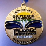 Southern Tennessee Plunge Marathon Medal 201106