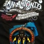 2011 Rock N Roll San Antonio Marathon Medal and Finisher's Shirt