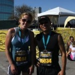 Rock N Roll San Antonio Marathon Medal photo of EH and Friend