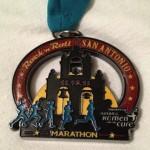 Rock N Roll San Antonio Marathon Medal (White Background)