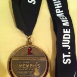 St. Jude Marathon Medal w/ Printed Ribbon - 2011 Race