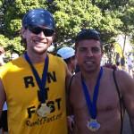Joshua Holmes with 2012 Maui Oceanfront Marathon Winner Chuck Engle