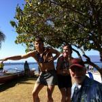 #1 Poser Chuck Engle Winner of the 2012 Maui Oceanfront Marathon with Female Winner Mari Kauri