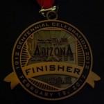 Arizona Marathon Medal Front - 2012