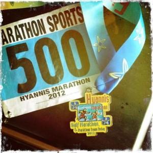 Hyannis Marathon Medal 2012 - Closeup