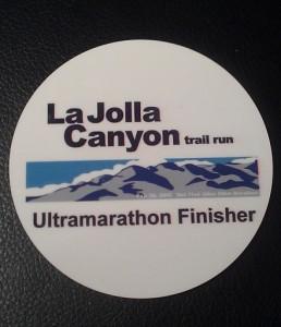 LaJolla Canyon Trail 50K Medal:Coaster - 2012