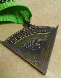 The Cowtown Half Marathon Medal - 2012