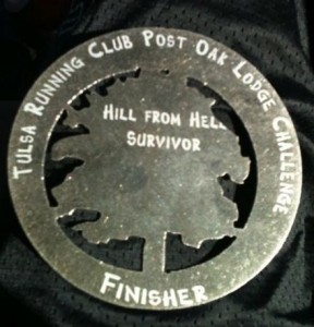 Tulsa Post Oak Lodge 50K Finisher's Medal