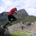 John O'Regan Running through Machu Picchu in Peru