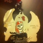 Flying Pirate Half Marathon Medal Back of BLING - 2012