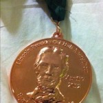 Lincoln Presidential Half Marathon Medal and Ribbon - 2012