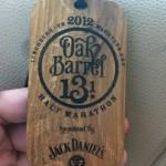 Oak Barrel Half Marathon Medal - 2012 - Stader