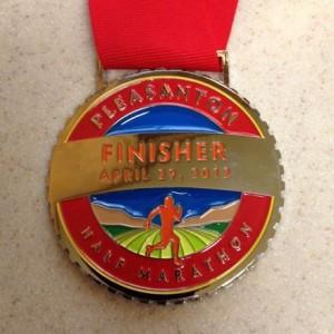 Pleasanton Half Marathon Medal - 2012