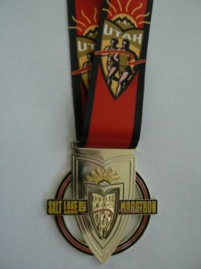 Salt Lake City Marathon Medal - 2012