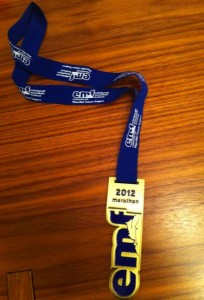 Edinburgh Marathon Medal - 2012