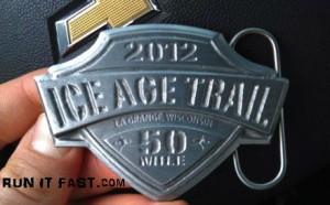 Ice Age Trail 50 Mile Ultra Marathon Buckle - 2012