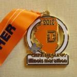 Illinois Marathon Medal - 2012