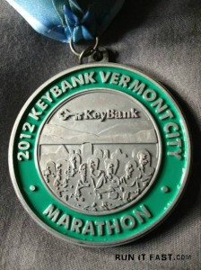 Keybank Vermont City Marathon Medal - 2012