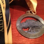 Oklahoma City Half Marathon Medal and Ribbon - 2012