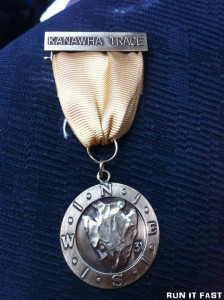 Kanawha Trace 50K Medal 2012