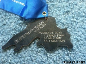 Superior Man Traithlon Medal 2012