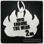 Endure the Bear 15K - 2nd Place Finisher Medal - Lisa Gonzales - Run It Fast