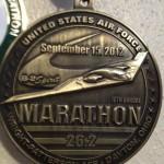 United States Air Force Marathon Medal - 2012 - Chris McCartney - Run It Fast