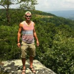 VS500K RR - Joshua Holmes On Top of the Rock the Day After Finishing the Vol State 500K