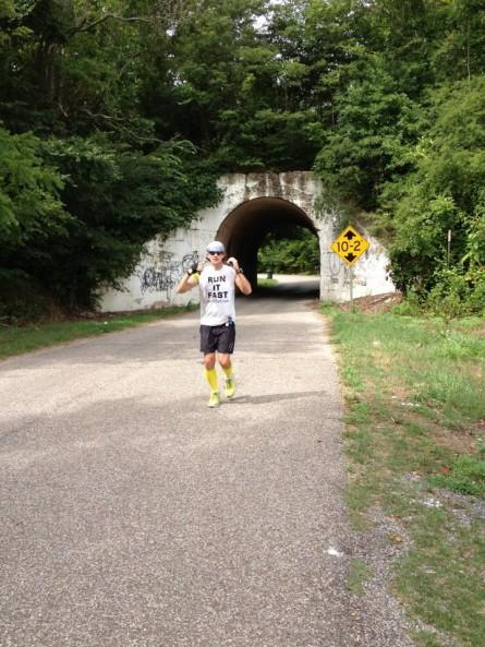 VS500K-RR Joshua Holmes - Tunnel Dresden, TN - 2012 Vol State 500K