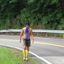 VS500K-RR Joshua Holmes on Monteagle Mtn w Umbrella - Vol State 500K