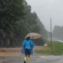 VS500K-RR - Joshua Holmes running in the rain in Hohenwald, TN - Vol State 500K