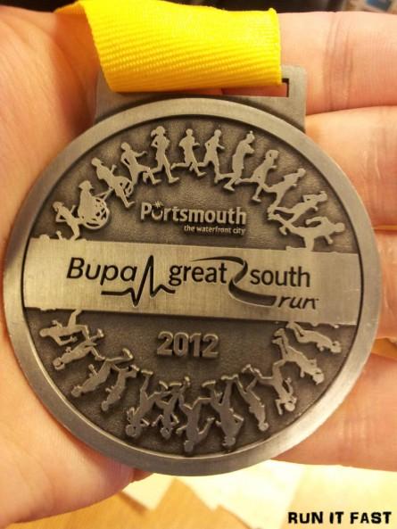 Bupa Great South Run Medal 2012