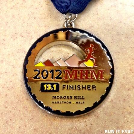 Morgan Hill Half Marathon Medal 2012