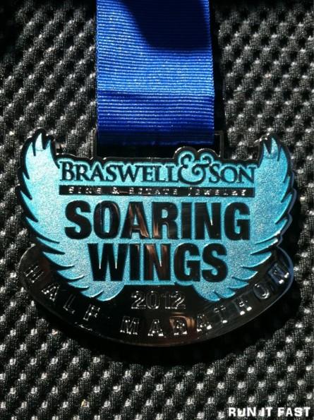 Soaring Wings Half Marathon Medal 2012