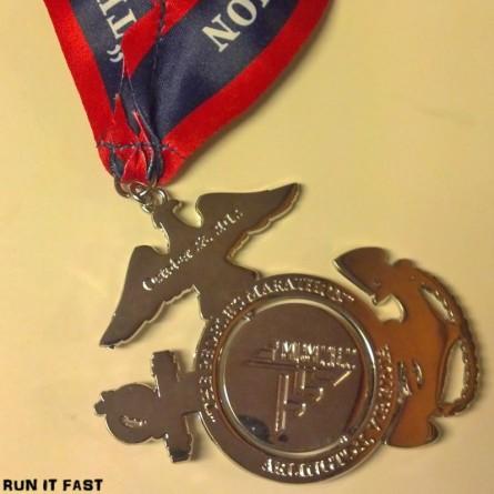 Marine Corps Marathon Medal (2012) - Run It Fast®Run It Fast®