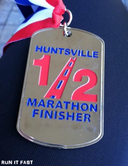 Huntsville Half Marathon Medal 2012