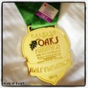Raleigh City of Oaks Half Marathon Medal 2012