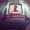 St Jude Memphis Half Marathon Medal - 2012 - Judd - Run It Fast