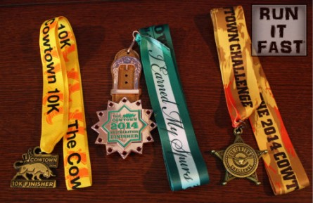 Cowtown Races Medals - 2014 - Run It Fast