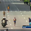 Meb Keflezighi  Final Stretch of 2014 Boston Marathon - Run It Fast