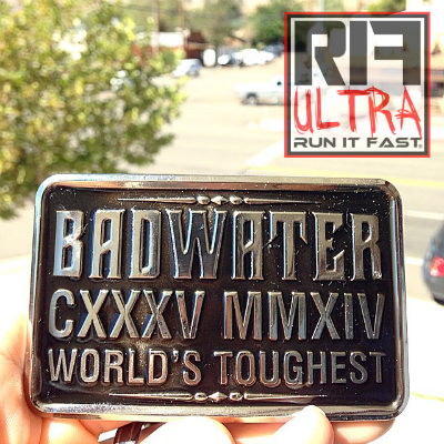 Badwater 135 Ultramarathon Buckle TM - 2014 - Run It Fast