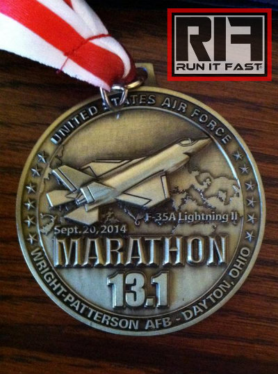 Air Force Half Marathon Medal Demark cu 2014 - Run It Fast