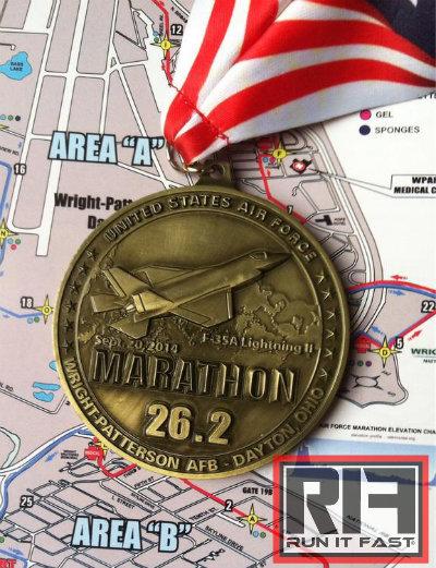 Air Force Marathon Medal 2014 Keister - Run It Fast