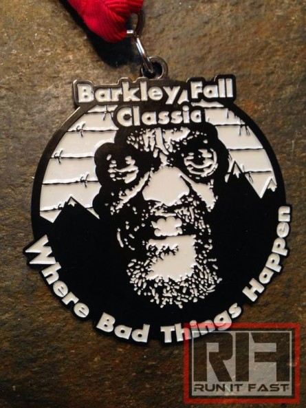 Barkley Fall Classic Medal 2014 - Run It Fast
