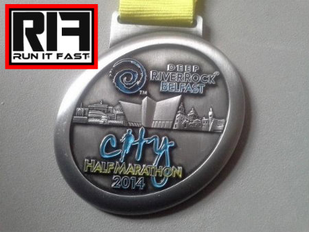 Belfast Half Marathon Medal 2014 - Run It Fast
