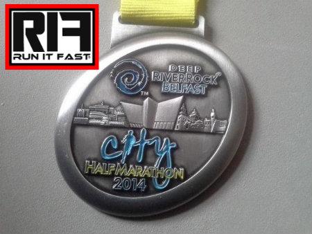 Belfast Half Marathon Medal 2014 - Run It Fast